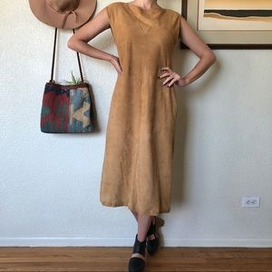 Vintage Bohemian Babe Lamb Suede Dress
